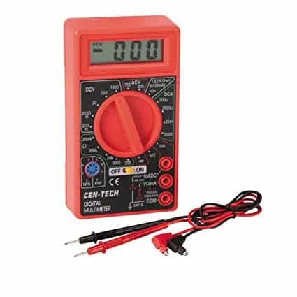Multimeter to test a car battery