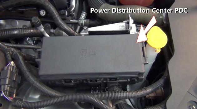 power distribution center on a car