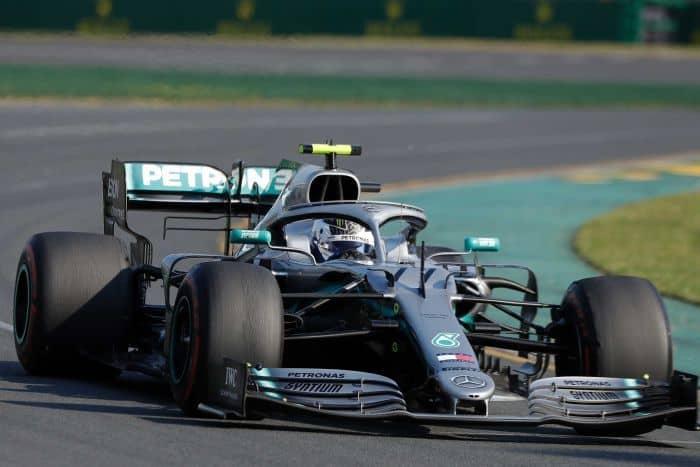 f1 car on racing track