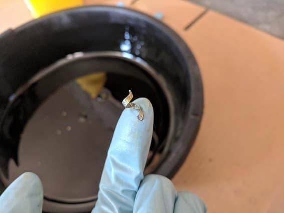 metal shaving in oil