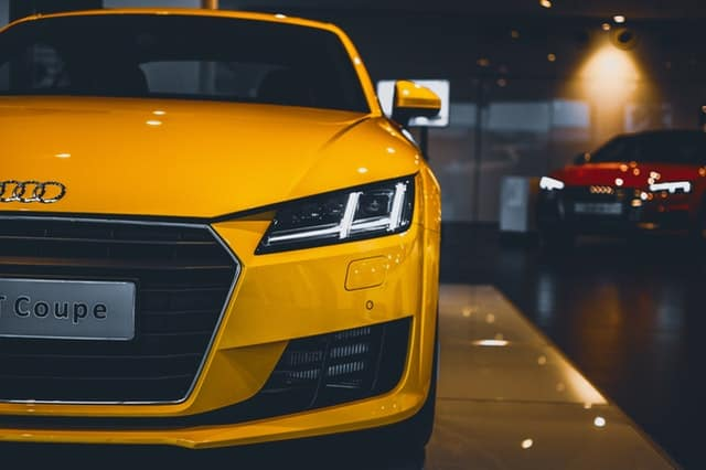 Audi Yellow car
