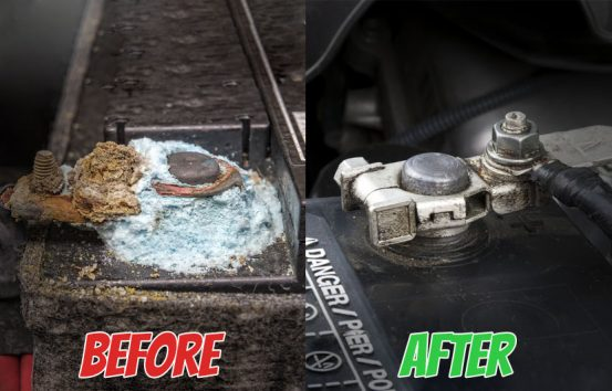 How to fix a corroded car battery