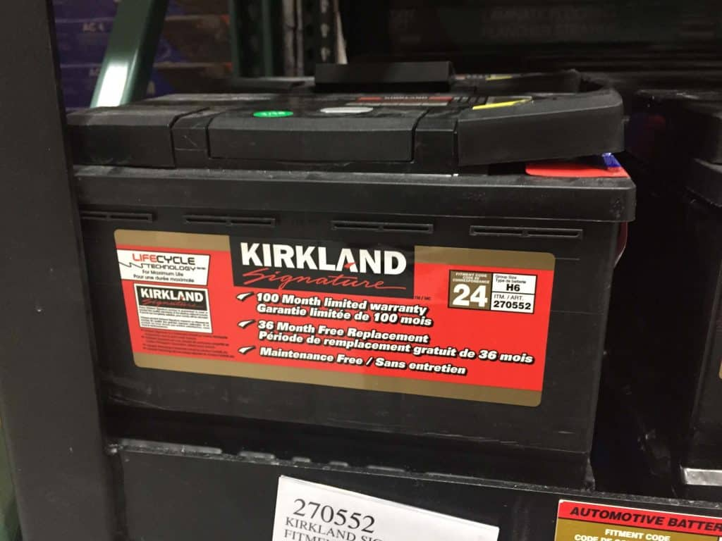 Kirkland signature automotive battery