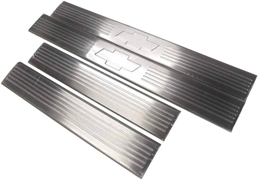 The Brushed metal sill plates