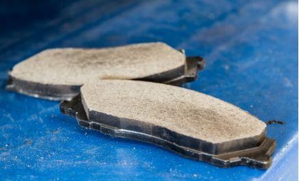 fiber on brake pad